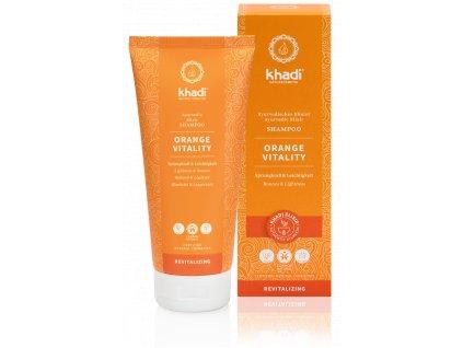 Khadi elixír šampón POMERANČ VITALITA