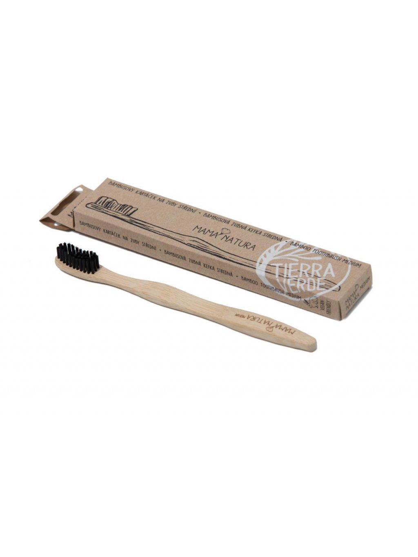 Bambusový kartáček na zuby střední