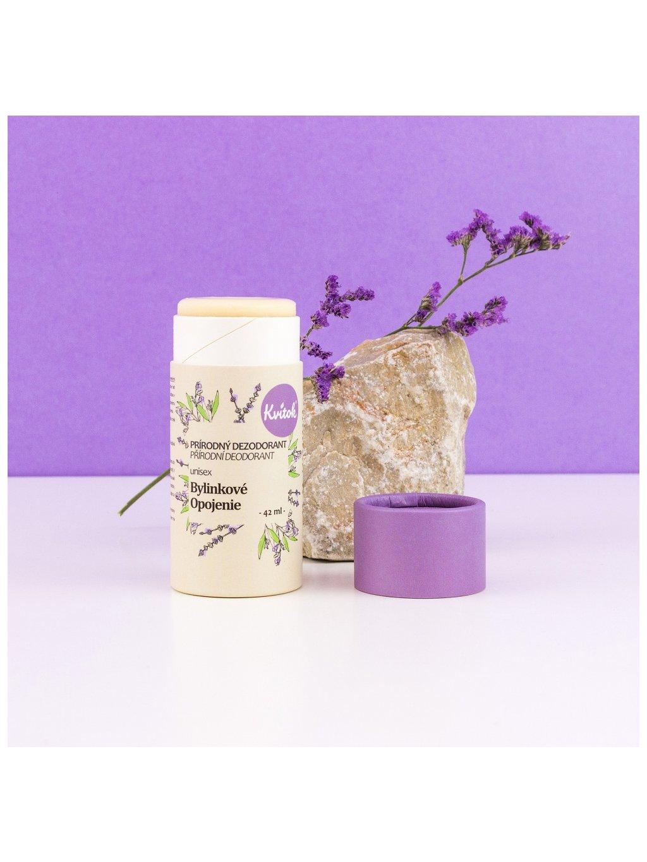 Tuhý deodorant Bylinkové opojení (papírová tuba)