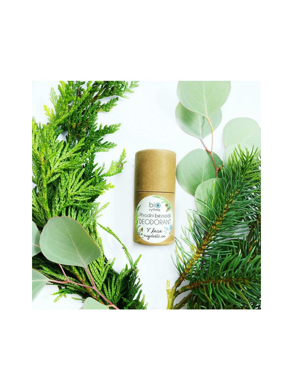 Papírový obal: BEZSODÝ deodorant V lese najde(š) se
