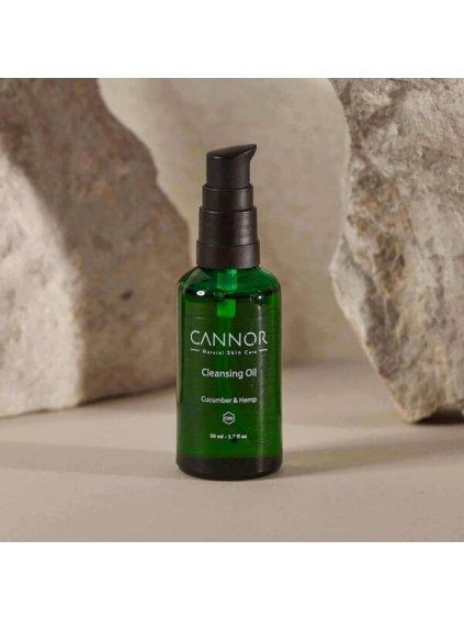 CANNOR Hydrofilní odličovací olej s CBD přírodní kosmetika konopná kosmetika 600x600