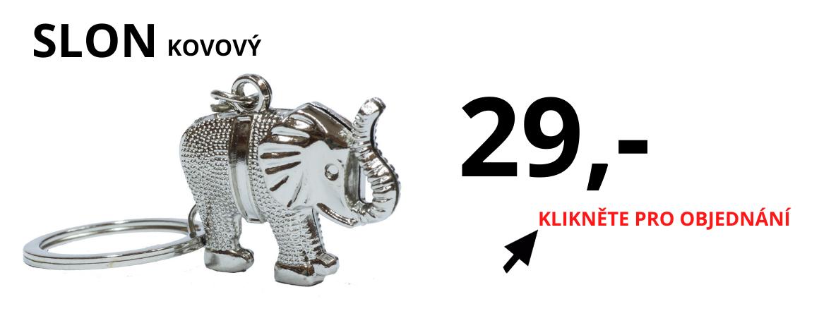 Slon kovový