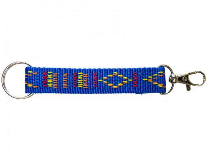 Popruh barevný krátký modrý indián