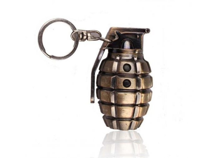 Simulation Grenade Of Laser Keychain LED Lighting Mini Flashlight