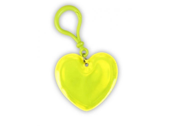 Přívěsek srdce plastová karabina.
