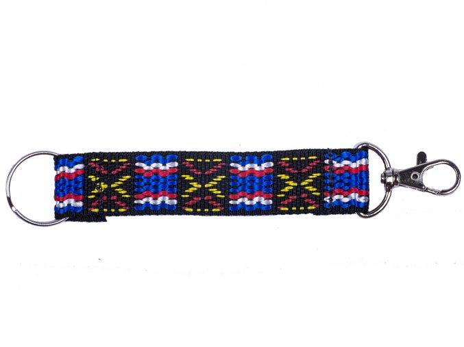 Popruh krátký barevný indián modročerný