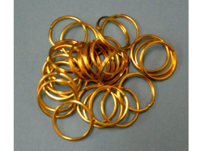 Kroužek kovový 20/mosaz