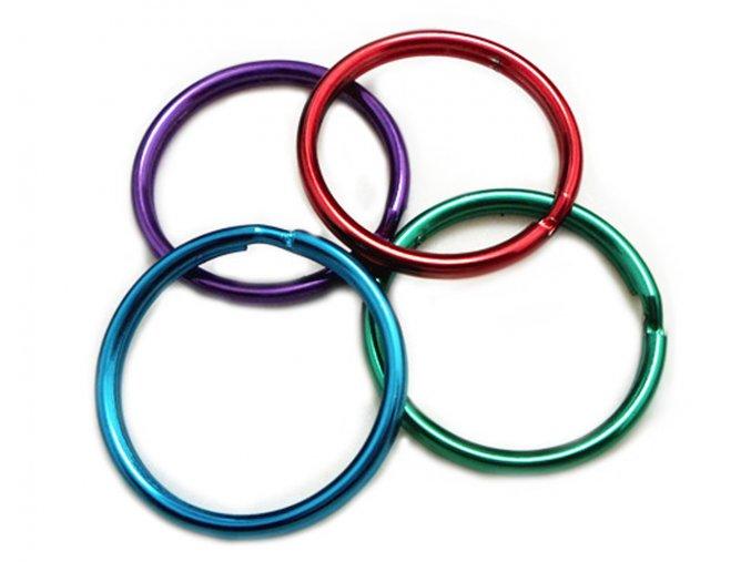 Kroužek kovový 30/barevný