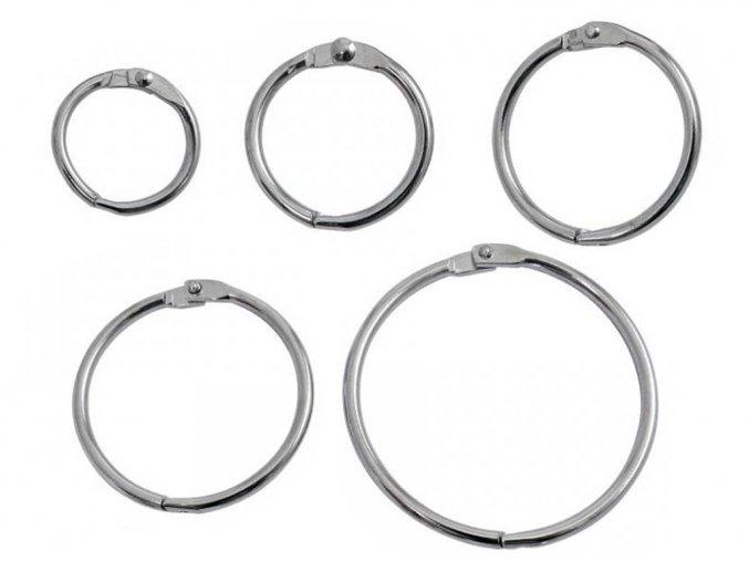 Kroužek kovový otvírací 56/nikl