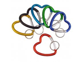 19882 heart shape climbers clip keychain