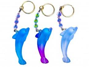 Delfín barevný s korálky