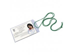 Pouzdro na ID kartu, PVC, šňůrka, 7x10,3mm