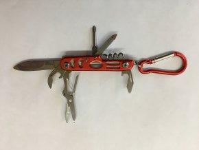 Nůž barevný multifunkční karabina