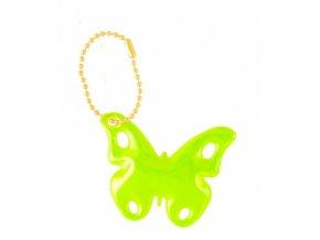 Reflexní přívěsek řetízek motýl žlutý