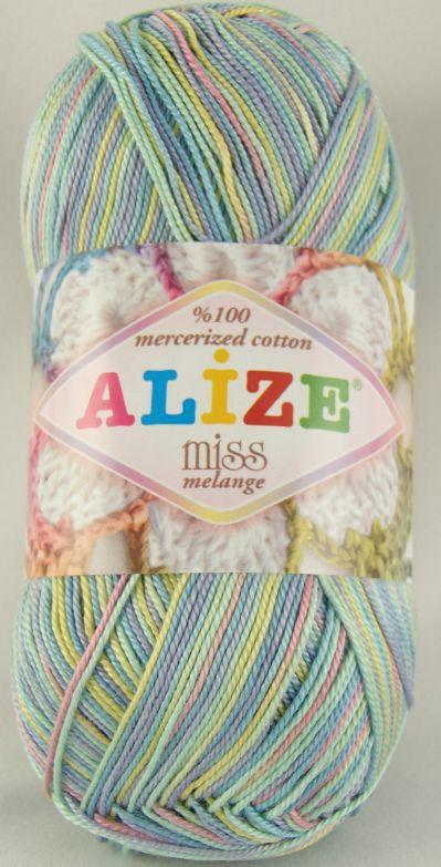 Miss melange - 100% bavlna - háčkovací