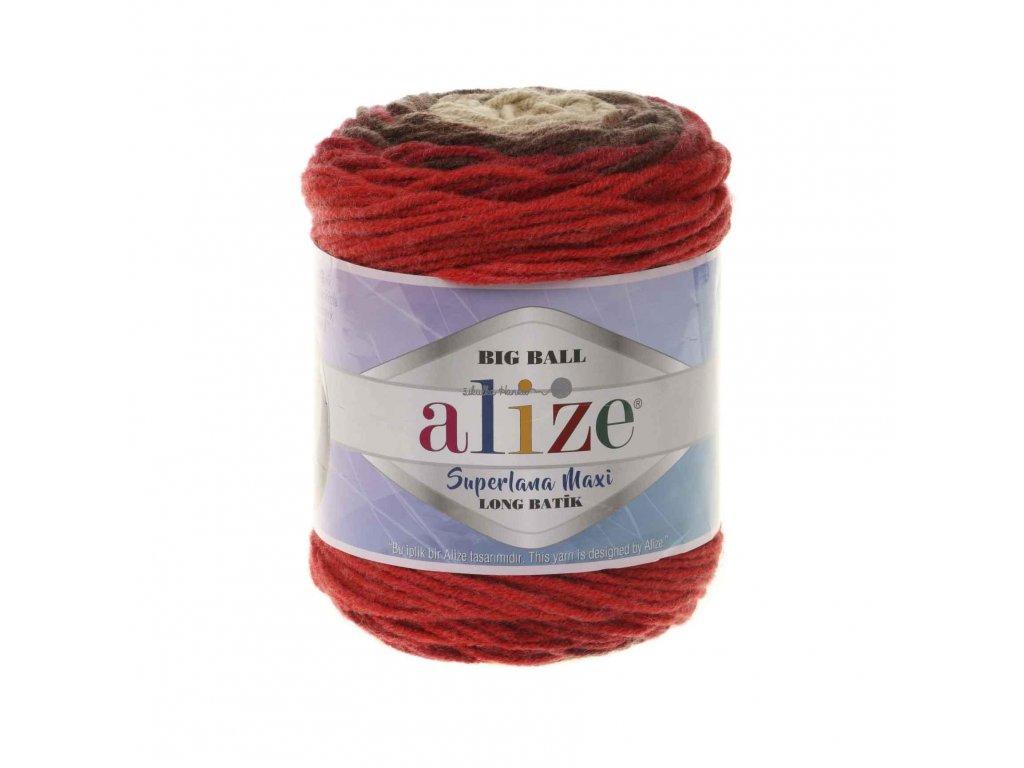 Superlana maxi long batik 6772 hnědo-červená