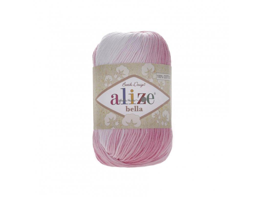 Alize Bella batik 100 - 2126 růžovo-bílá