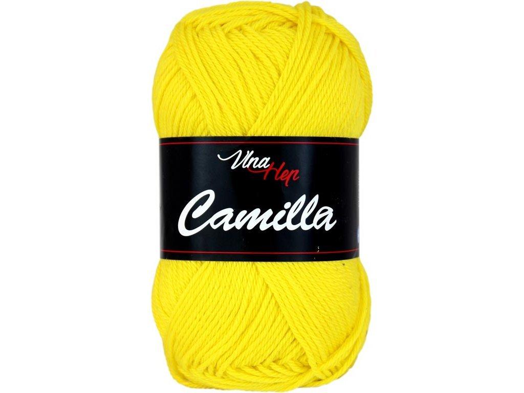Příze Camilla 8184 žlutá sluníčková