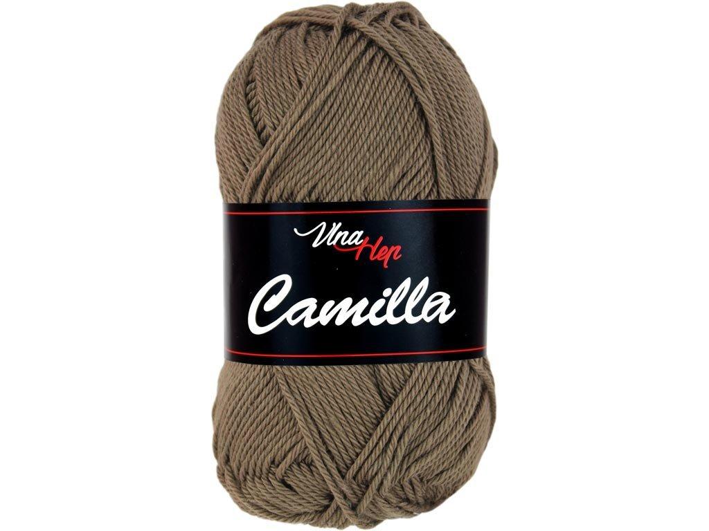 Příze Camilla 8224 hnědo-šedá