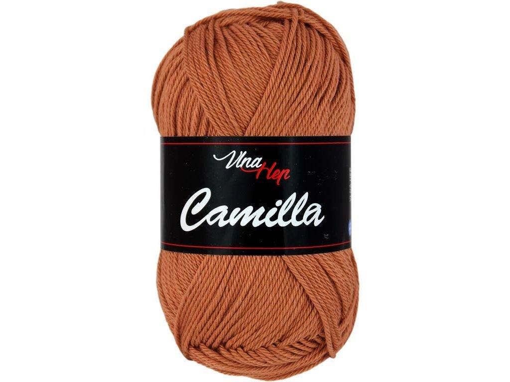 Příze Camilla 8211 hnědo-rezavá