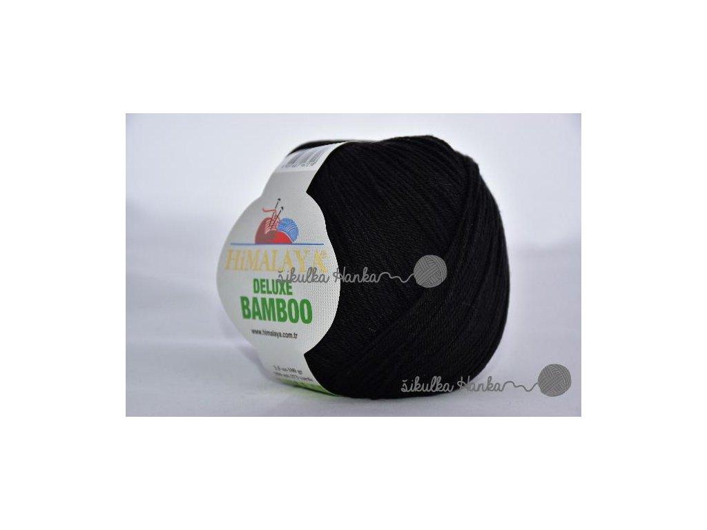 Příze De lux bamboo 29 černá