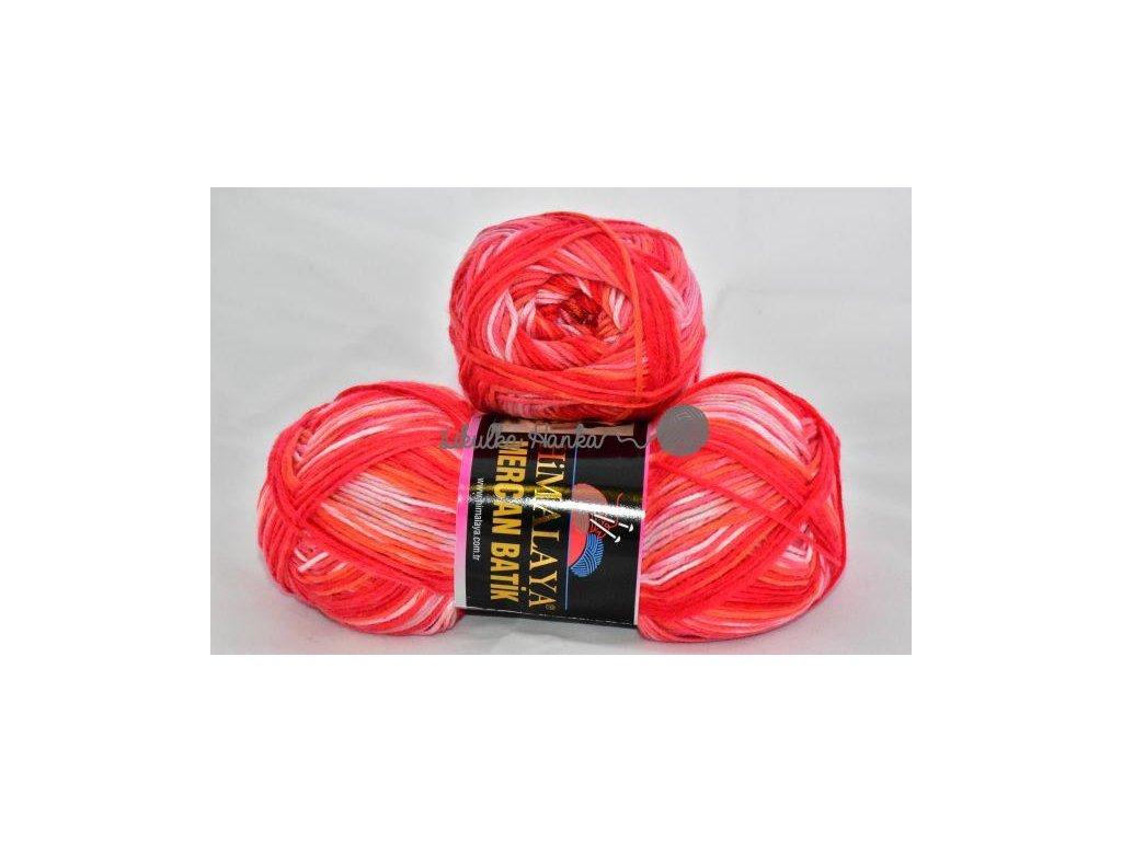 Mercan batik 59535 červeno-bílá
