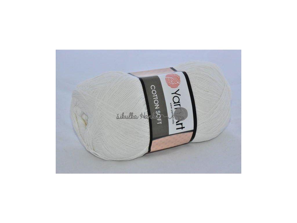 Cotton soft 01 bílá