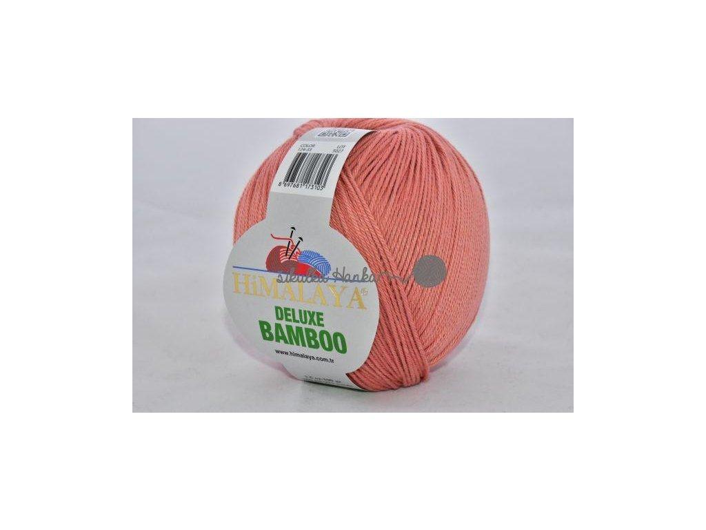 Příze De lux bamboo 33 cihlová