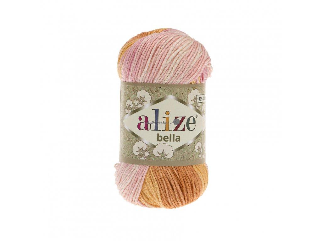 Alize Bella batik 6789 sv.růžovo-oranžová