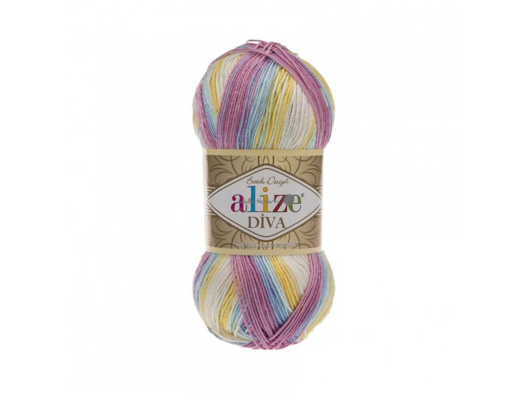 Příze Alize Diva batik 6785 barevná světlá