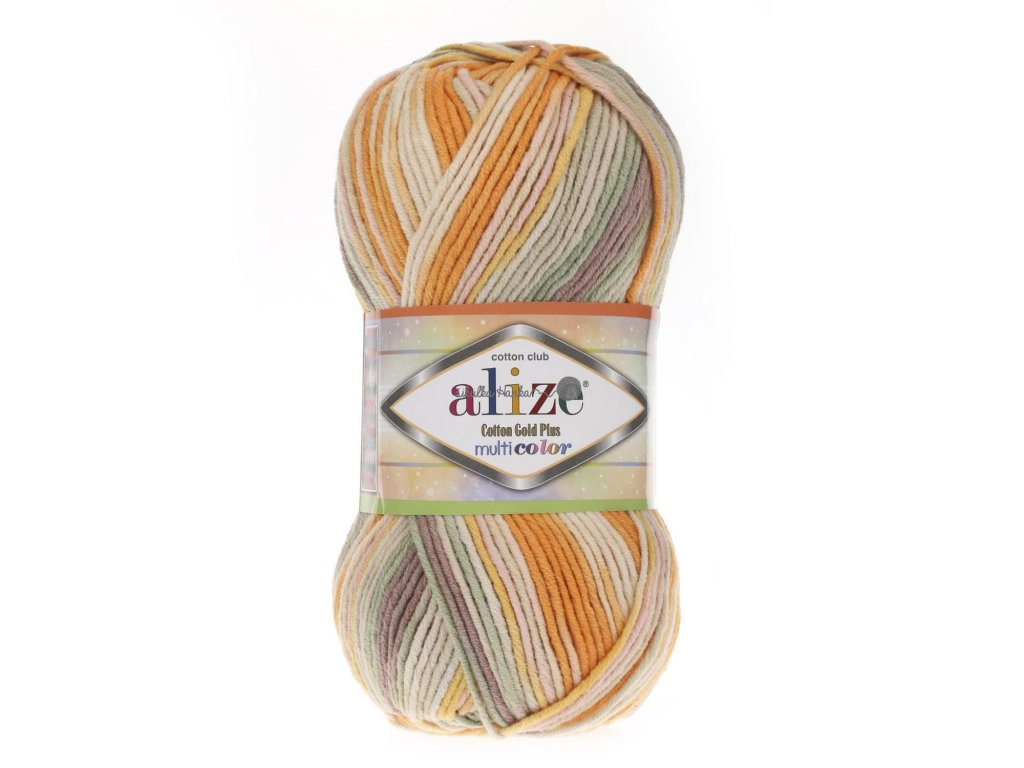 Cotton gold plus multicolor 52176 oranžová