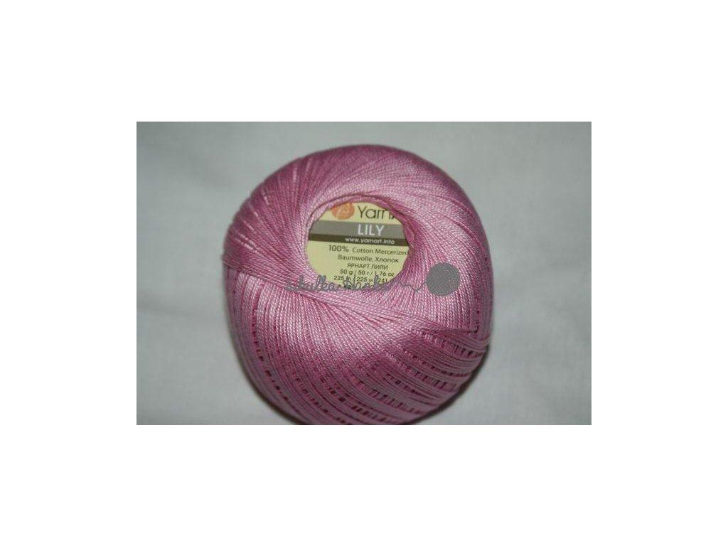 Příze Yarn Art Lily 5046 růžová š. 315040