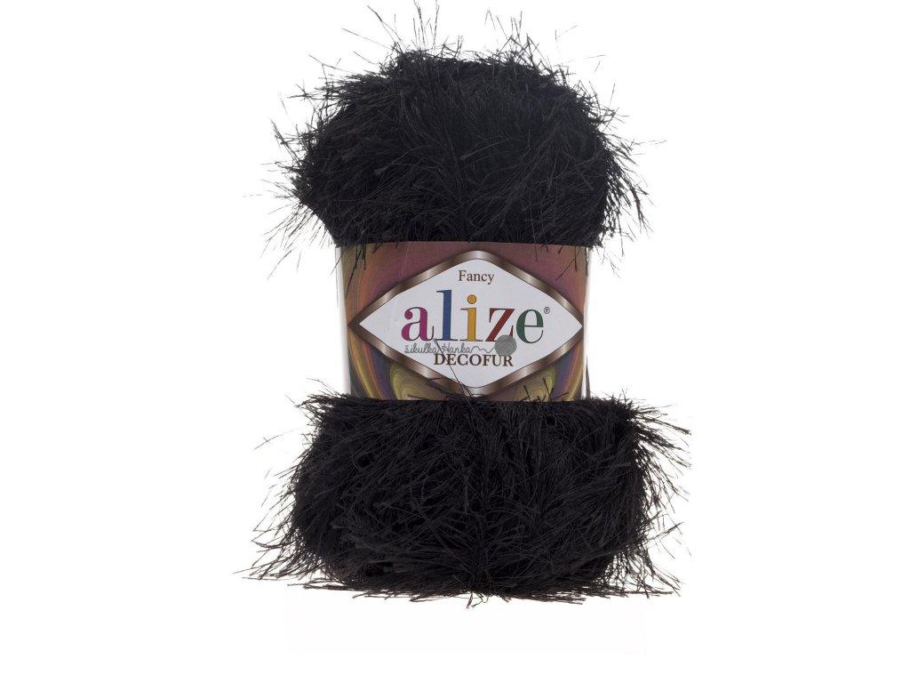 Alize Decofur 60 černá