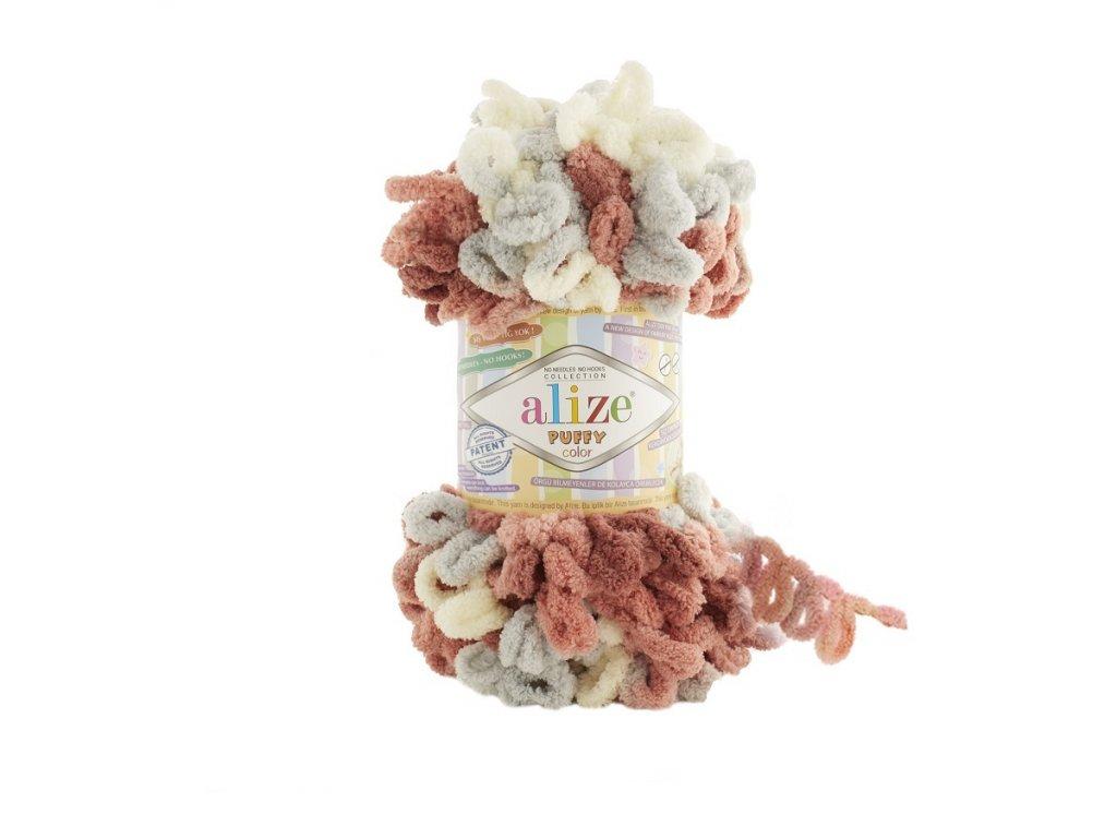 Пряжа Alize Puffy Color цвет 6079