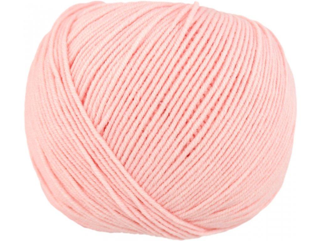 Jeans - Vlna Hep 8026 světle růžová