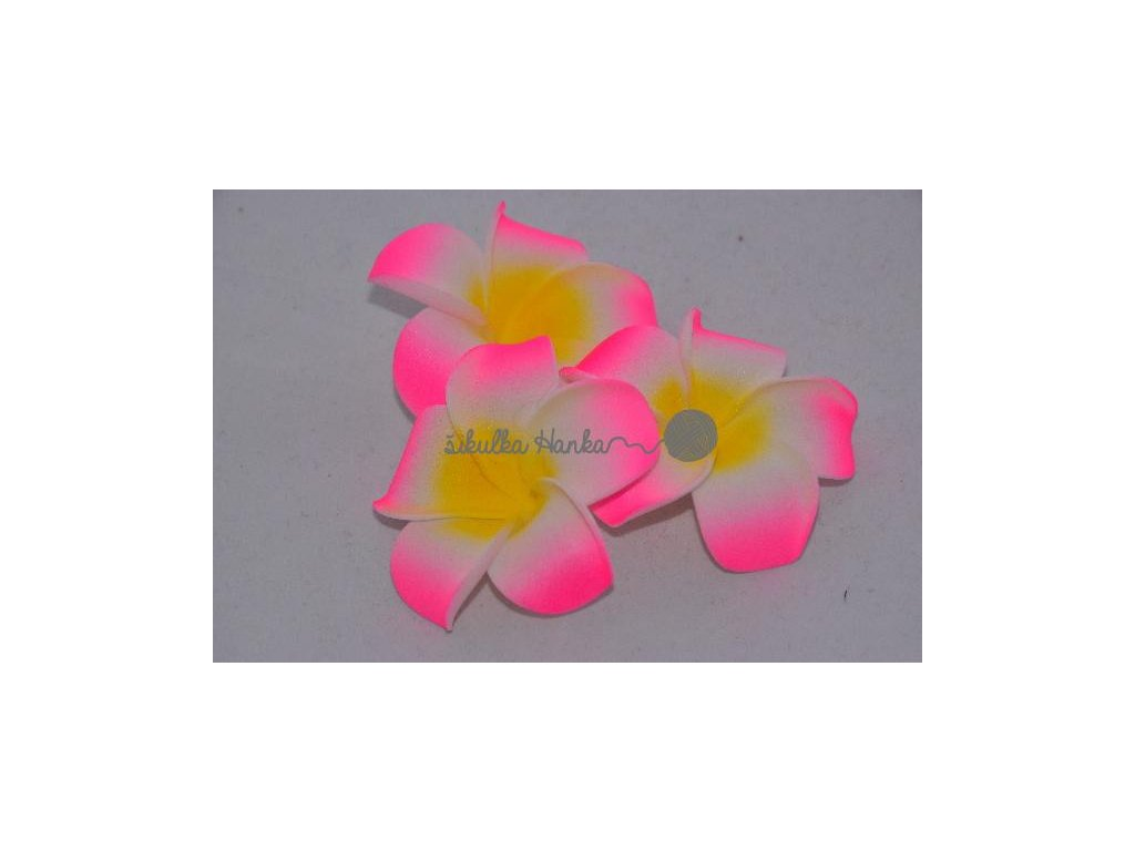 Dekorace hawai květ růžová neonka