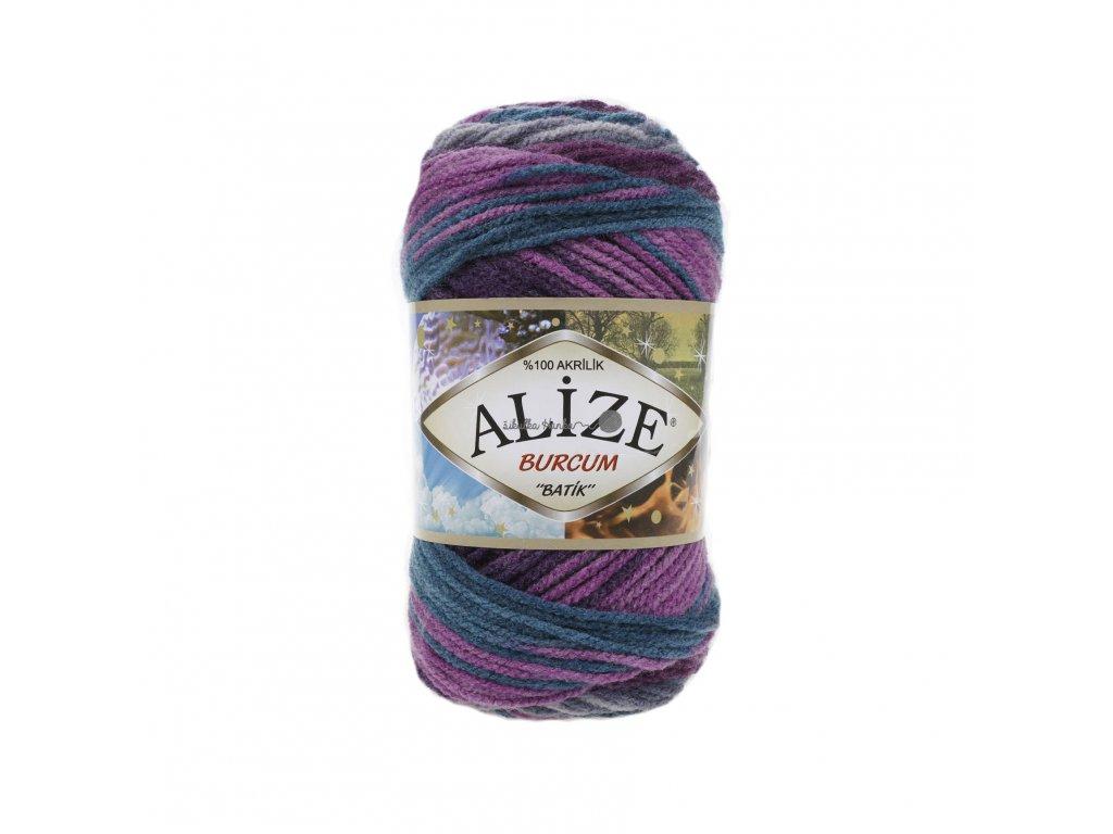 Burkum batik 3366 fialovo-tyryksovo-šedá