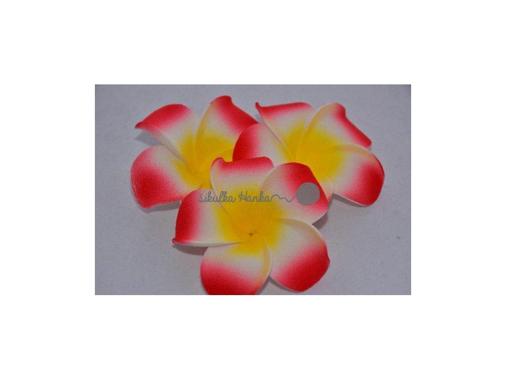 Dekorace hawai květ červená
