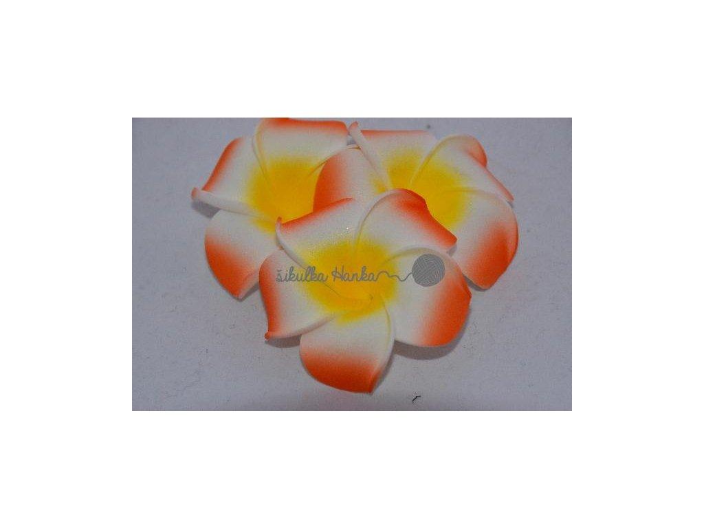 Dekorace hawai květ oranžová