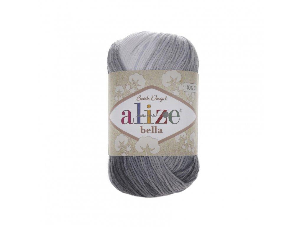 Alize Bella batik 100 - 2905 černo-bílá