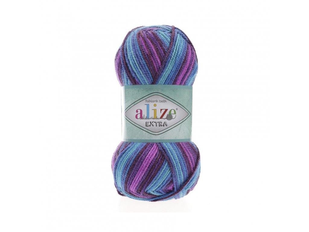 Alize Extra folklorik batik 4882 fialovo-modrá