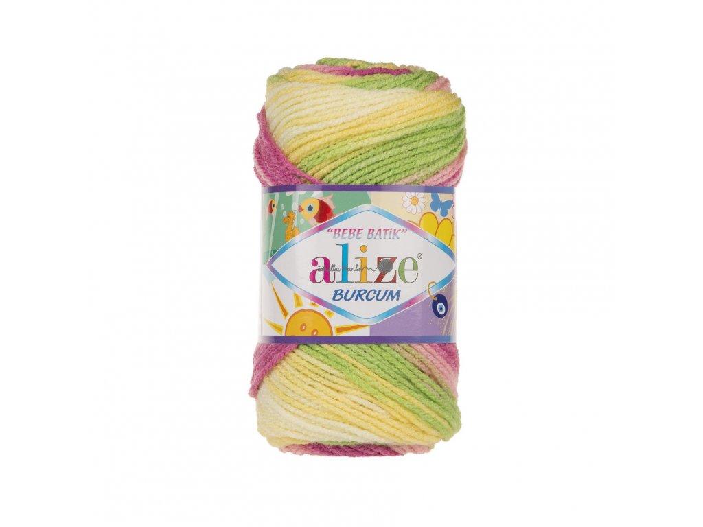 Burkum bebe batik 2613 žluto-růžovo-zelená
