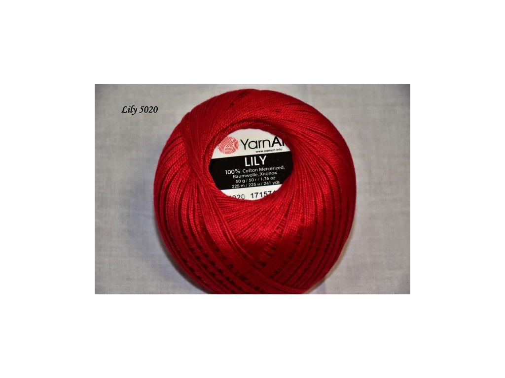 Příze Yarn Art Lily 5020 červená š.1647242