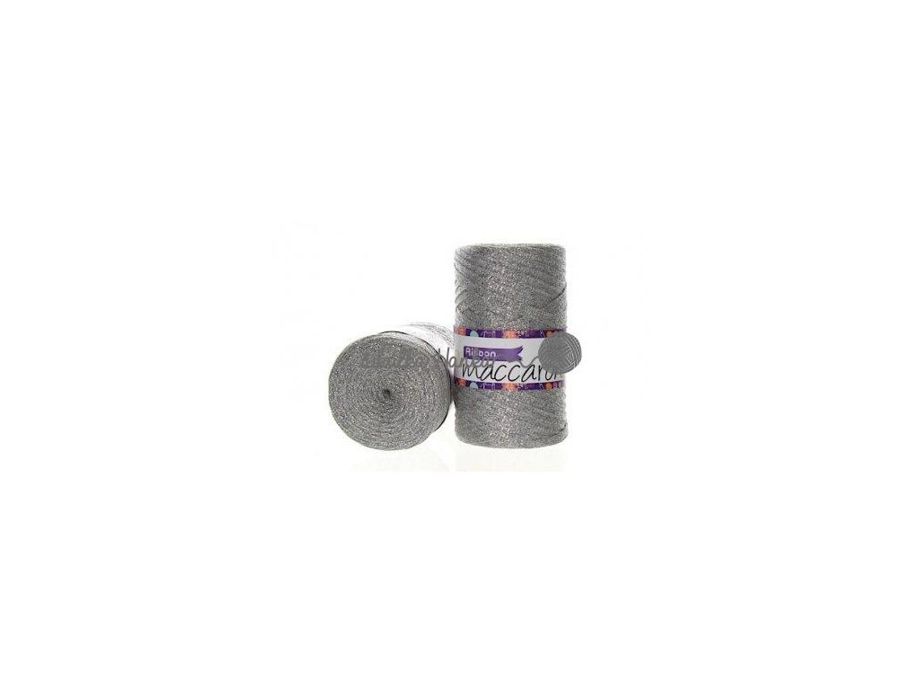 Ribbon s lurexem 24 stříbrná