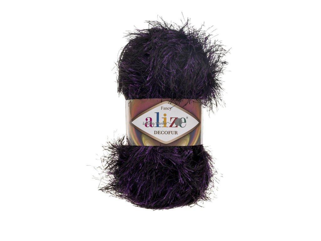 Alize Decofur 1380 fialovo-černá