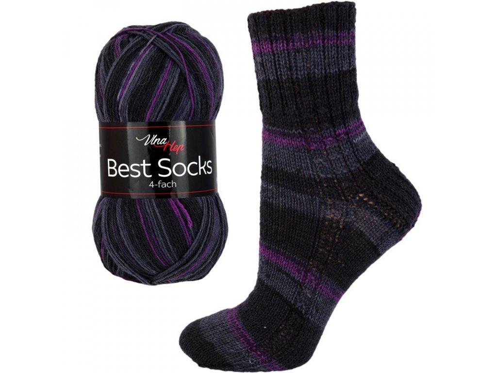 Příze Best socks 7007 smetanovo-šedá