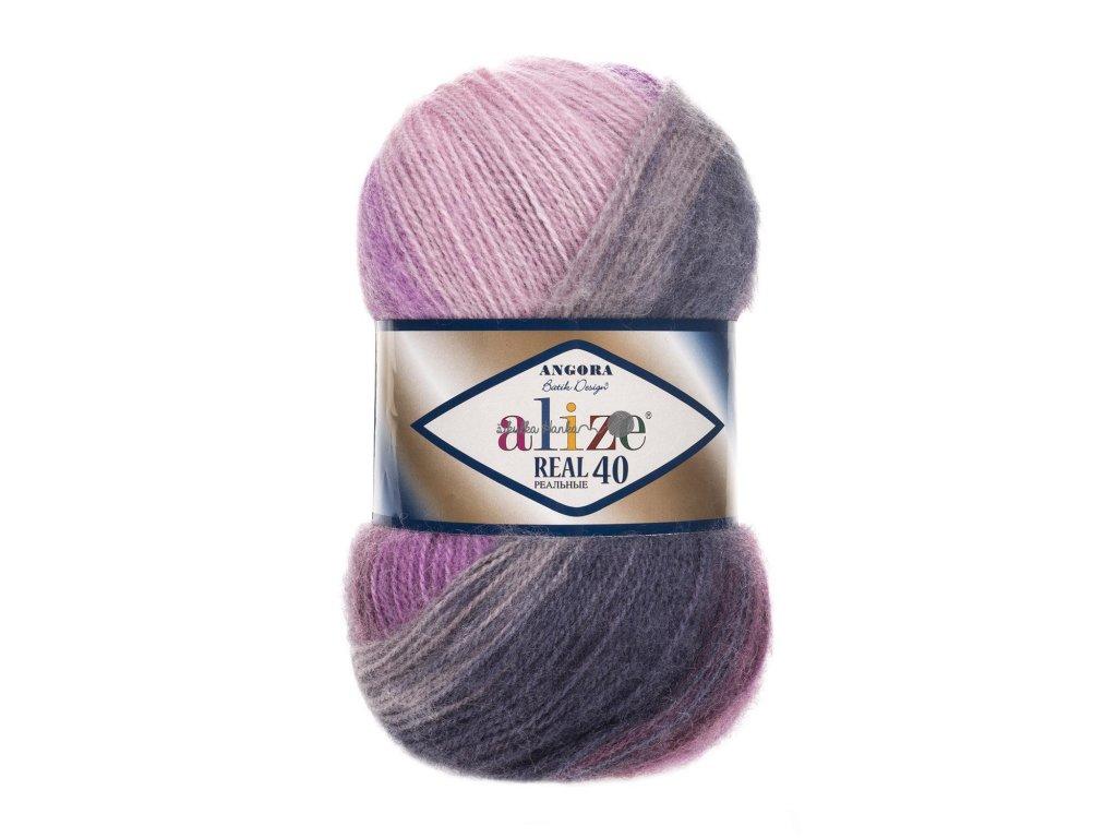 Angora real 40 batik 4760 fialovo-šedá