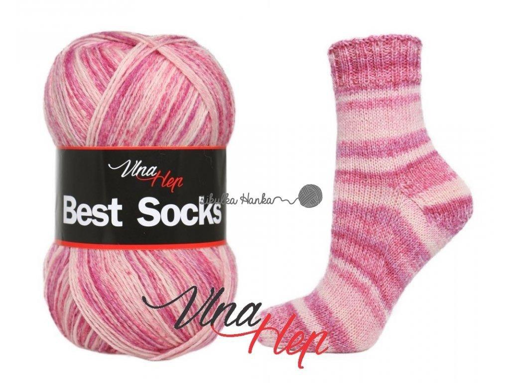 Příze Best socks 7113 vínovo-světlá