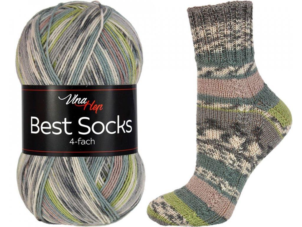 Příze Best socks 7305 khaki