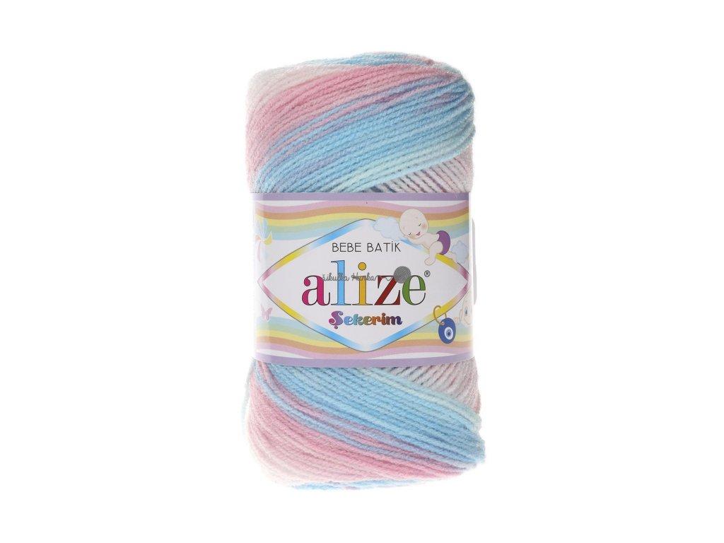 Sekerim bebe batik 2604 růžovo-modro-bílá